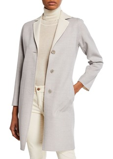 Cinzia Rocca Luxury Lightweight Wool Coat