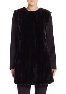 Cinzia Rocca Mink Fur & Wool Coat