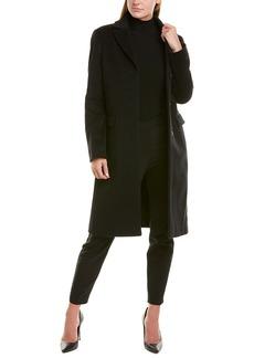 Cinzia Rocca Notch Lapel Wool & Cashmere-Blend Coat