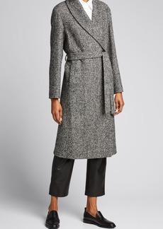 Cinzia Rocca Novel Wool-Blend Wrap Coat