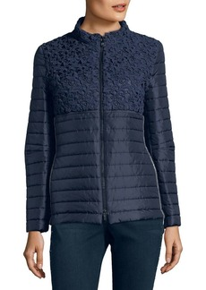 Cinzia Rocca Quilted Embroidered Down Jacket
