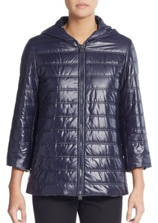 Cinzia Rocca Quilted Hooded Rain Coat