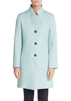 Cinzia Rocca Quilted Three-Quarter Raincoat