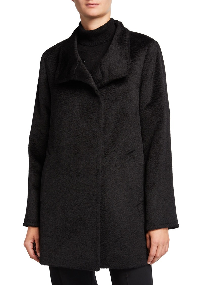 Cinzia Rocca Relaxed Car Coat  Black