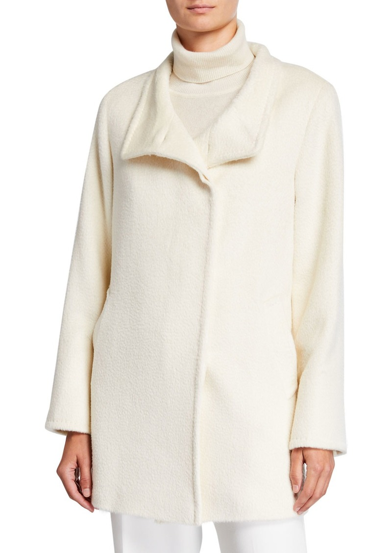 Cinzia Rocca Relaxed Car Coat  White