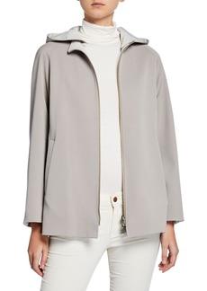 Cinzia Rocca Reversible Wool Jacket w/ Detachable Hood