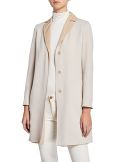 Cinzia Rocca Reversible Wool Top Coat