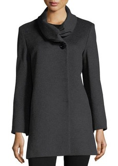 Cinzia Rocca Ruffled-Collar Wool Jacket