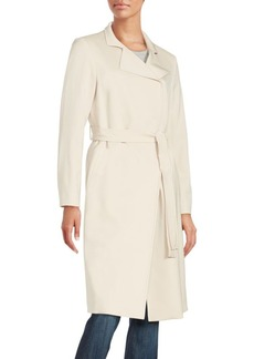 Cinzia Rocca Soft Wool Blend Trench Coat