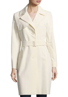 Cinzia Rocca Solid Belted Trench Coat