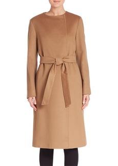 Cinzia Rocca Solid Long Sleeve Wool Coat