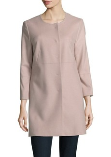 Cinzia Rocca Solid Wool & Cashmere-Blend Jacket