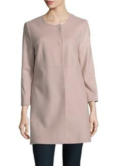 Cinzia Rocca Solid Wool & Cashmere-Blend Jacket