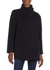 Cinzia Rocca Stand Collar Virgin Wool-Blend Coat