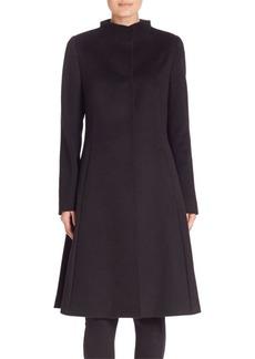 Cinzia Rocca Stand Collar Woolen Coat