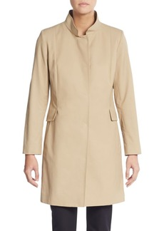 Cinzia Rocca Stretch Cotton Stand Collar Coat