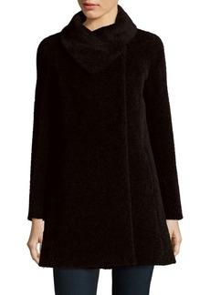 Cinzia Rocca Suri Alpaca Fold-Over Collar Coat
