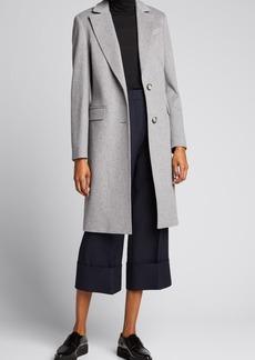 Cinzia Rocca Two-Button Long Wool Coat