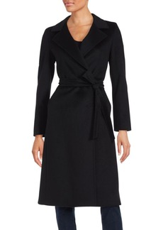 Cinzia Rocca Virgin Wool Wrap Coat