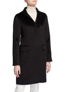 Cinzia Rocca Walker Single-Breasted Pea Coat  Black