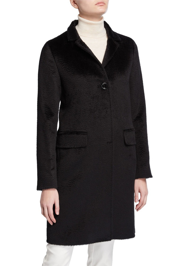 Cinzia Rocca Walker Single-Breasted Pea Coat  Black