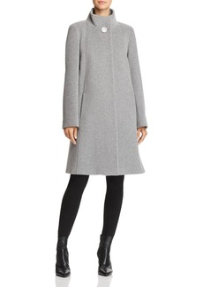 Cinzia Rocca Icons Wool & Cashmere Stand-Collar Coat