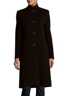 Cinzia Rocca Wool-Blend Button-Down Coat