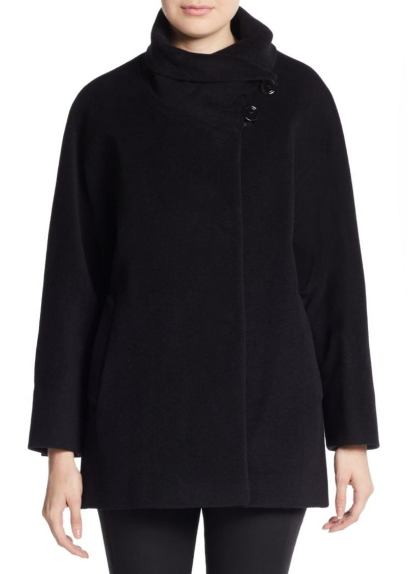 Cinzia Rocca Wool-Blend Cape Jacket