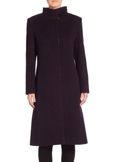 Cinzia Rocca Wool Blend Long Sleeve Coat