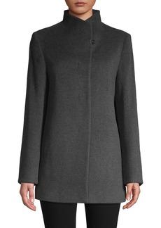 Cinzia Rocca Envelope Collar Wool-Blend Jacket