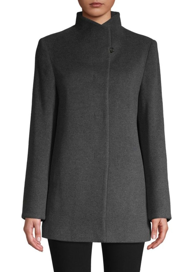 Cinzia Rocca Envelope Collar Wool-Blend Jacket