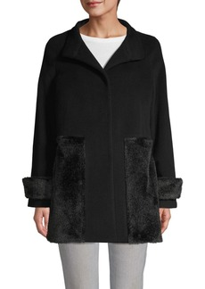 Cinzia Rocca Faux Fur Panel Coat