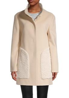 Cinzia Rocca Faux Fur Wool-Blend Coat
