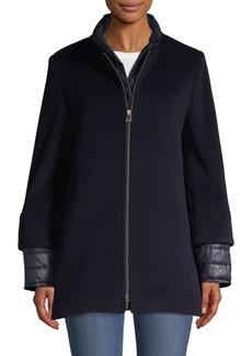 Cinzia Rocca Full-Zip Wool-Blend Jacket