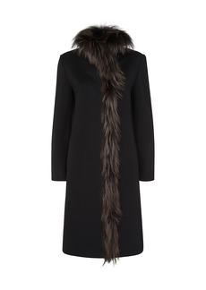 Cinzia Rocca Fur-Trim Virgin Wool Coat
