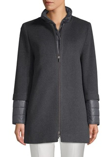 Cinzia Rocca Heathered Zip-Front Jacket