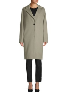 Cinzia Rocca Long-Sleeve Wool Walker Coat