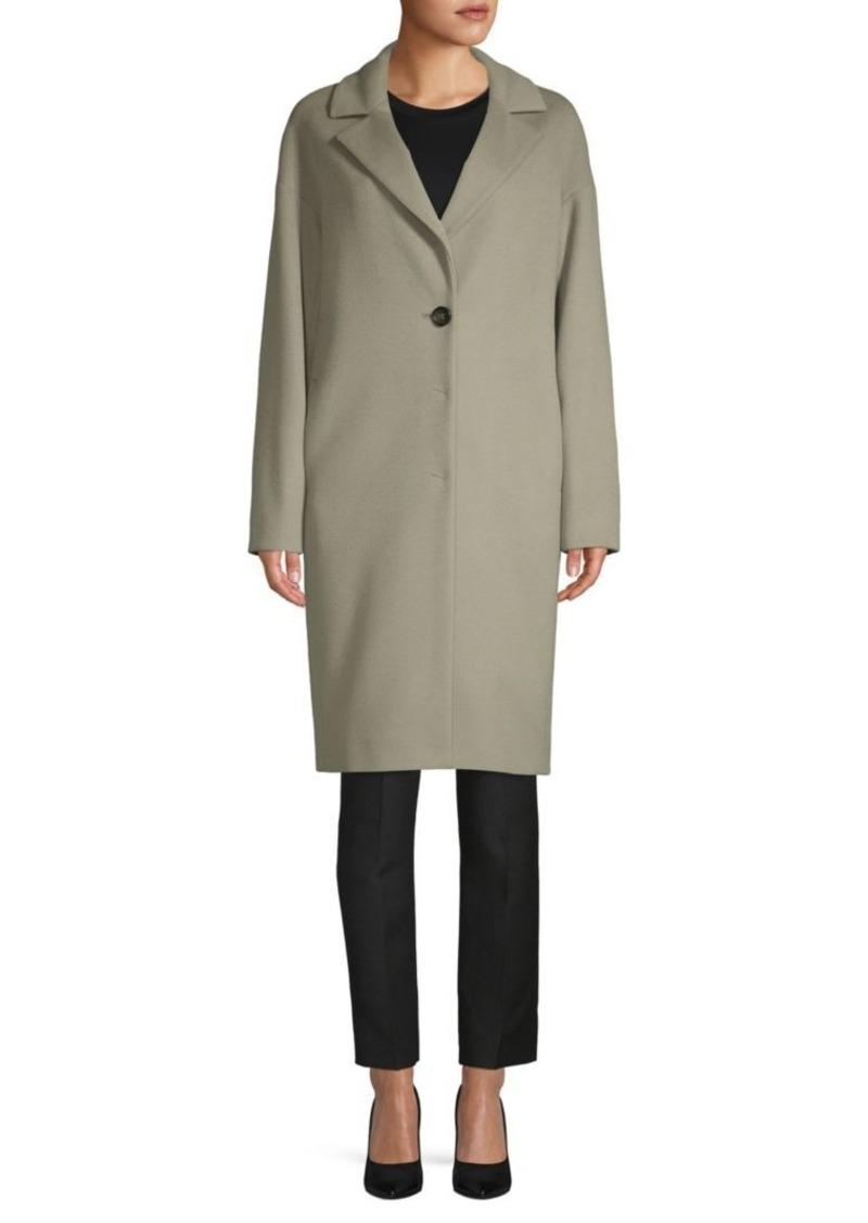 Cinzia Rocca Long-Sleeve Wool Walker Coat