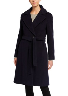 Cinzia Rocca Long Wrap Belted Coat