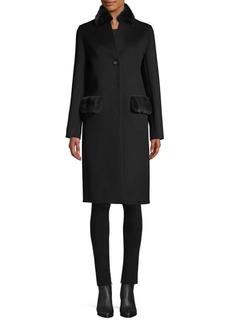 Cinzia Rocca Mink Trimmed Coat