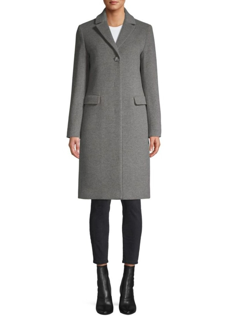 Cinzia Rocca Notch-Collar Wool-Blend Coat