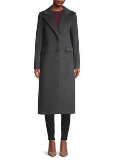 Cinzia Rocca Notch Collar Wool-Blend Coat