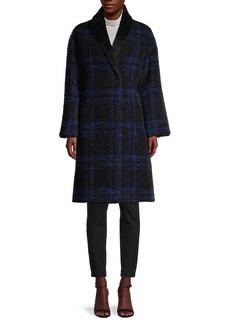 Cinzia Rocca Plaid Virgin Wool & Mohair-Blend Coat
