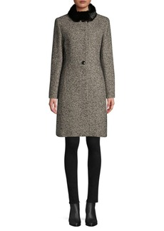 Cinzia Rocca Rabbit Collar Three-Quarter Coat