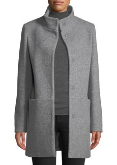 Cinzia Rocca Snap-Button Wool-Blend Walking Coat