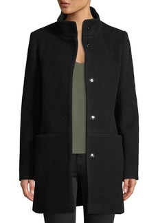 Cinzia Rocca Snap-Button Wool-Blend Walking Coat