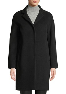Cinzia Rocca Snap-Front Wool-Blend Cocoon Coat