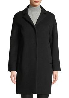 Cinzia Rocca Snap-Front Wool-Blend Cocoon Coat