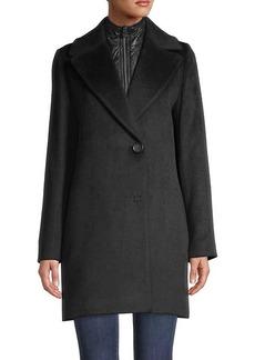 Cinzia Rocca Solid-Color Coat & Removable Bib