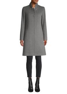 Cinzia Rocca Stand Collar Wool-Blend Coat